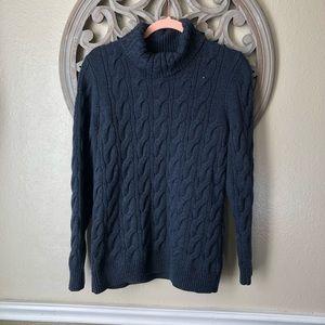 L.L. Bean wool blend Navy turtle neck sweater